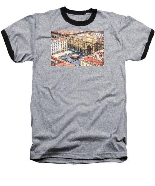Piazza Della Repubblica Baseball T-Shirt