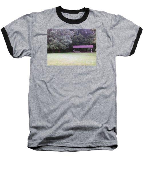 Picnic Shelter Baseball T-Shirt