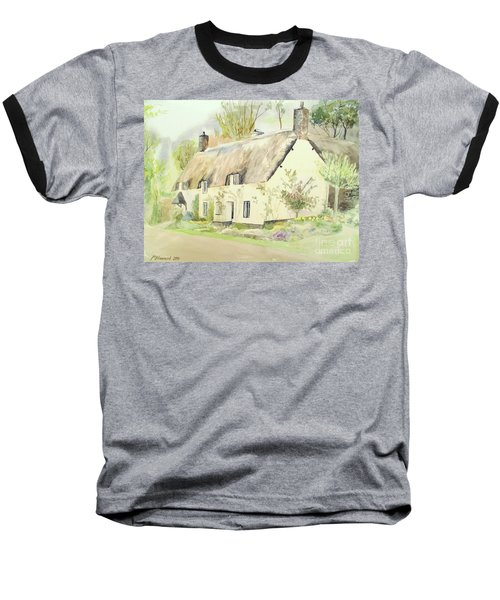 Picturesque Dunster Cottage Baseball T-Shirt by Martin Howard