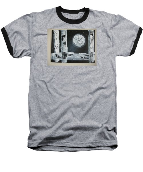 Baseball T-Shirt featuring the painting Pie In The Sky by Sharyn Winters