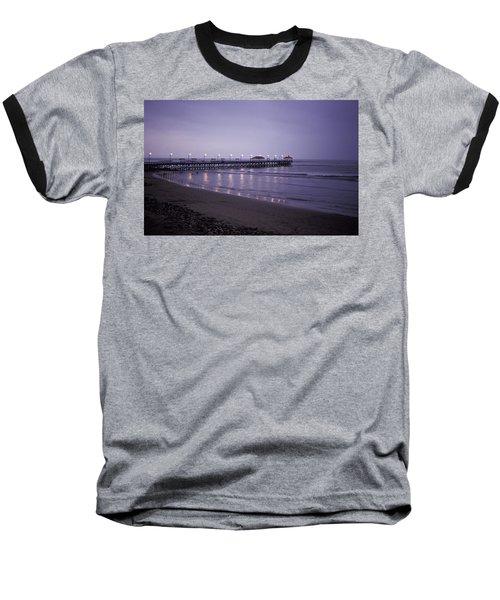 Pier At Dusk Baseball T-Shirt