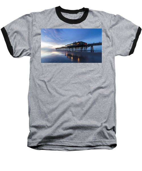 Pier At Twilight Baseball T-Shirt