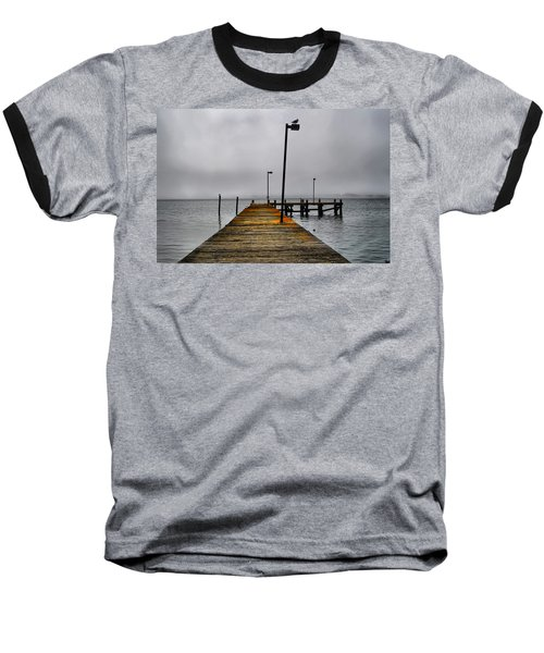 Pier Into The Fog Baseball T-Shirt