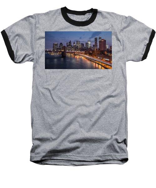 Piercing Manhattan Baseball T-Shirt by Mihai Andritoiu