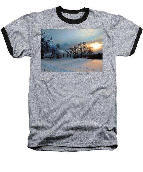 Piermont Church In Winter Light Baseball T-Shirt