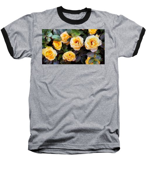Pierre's Peach Roses Baseball T-Shirt