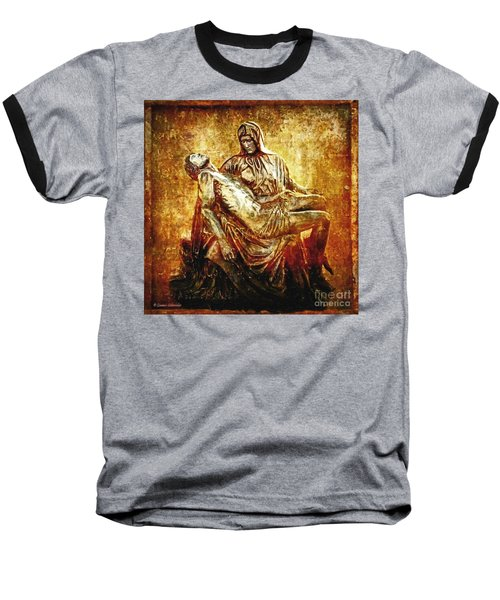 Pieta Via Dolorosa 13 Baseball T-Shirt