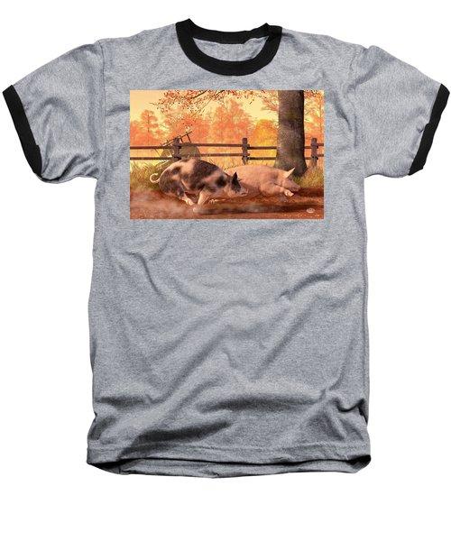 Pig Race Baseball T-Shirt