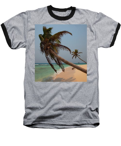 Pigeon Cays Palm Trees Baseball T-Shirt
