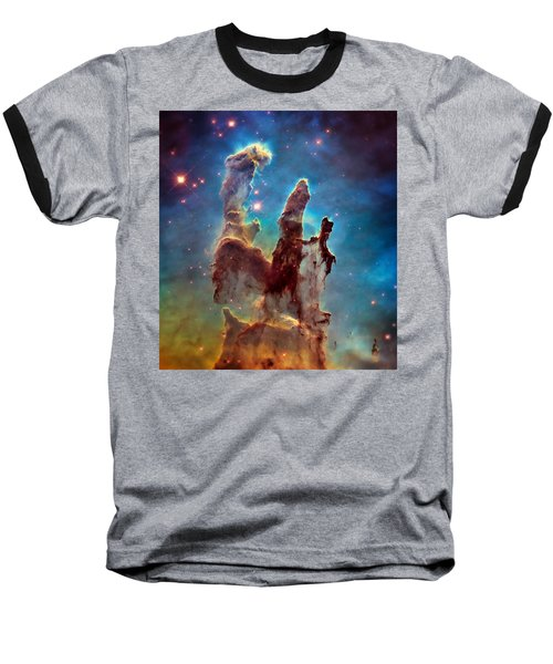 Pillars Of Creation In High Definition - Eagle Nebula Baseball T-Shirt