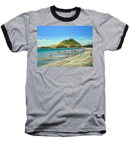 Baseball T-Shirt featuring the painting Pilot Bay Mt M 050110 by Sylvia Kula