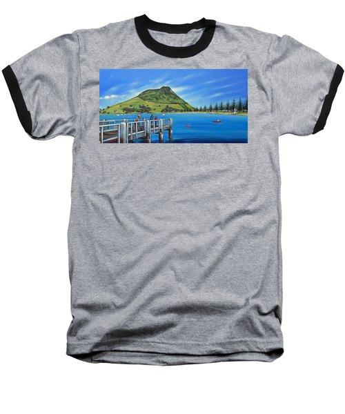 Pilot Bay Mt Maunganui 201214 Baseball T-Shirt by Selena Boron