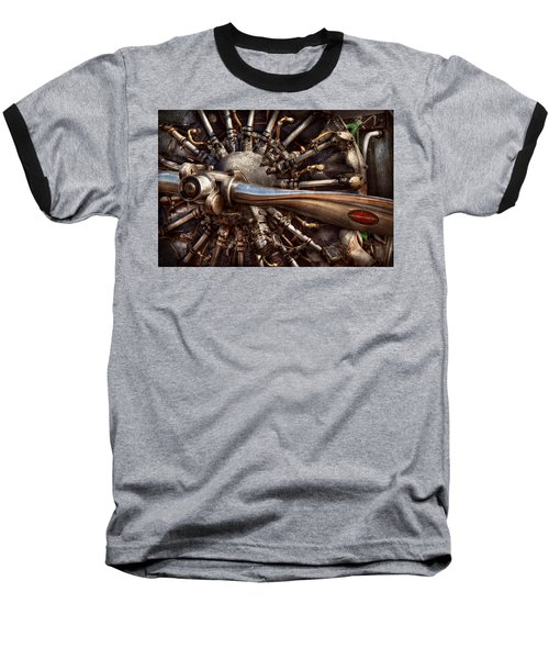 Pilot - Plane - Engines At The Ready  Baseball T-Shirt by Mike Savad