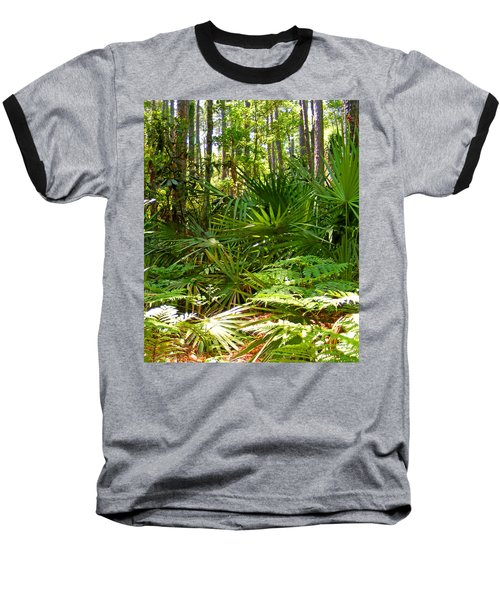 Pine And Palmetto Woods Filtered Baseball T-Shirt