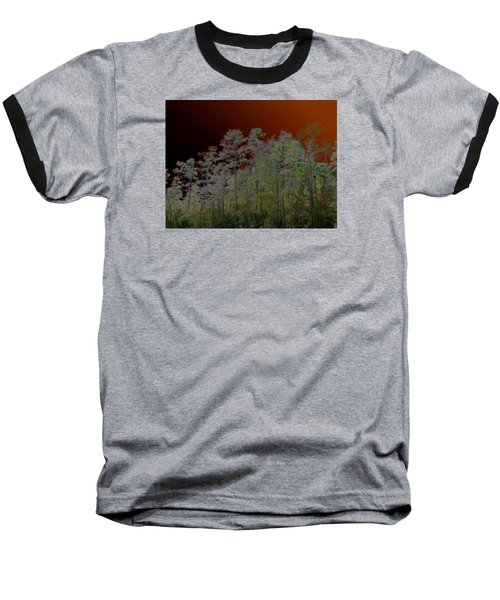 Pine Forest Baseball T-Shirt by Connie Fox