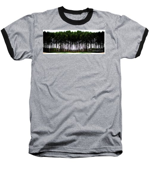 Pine Forest Baseball T-Shirt by Marcia Lee Jones