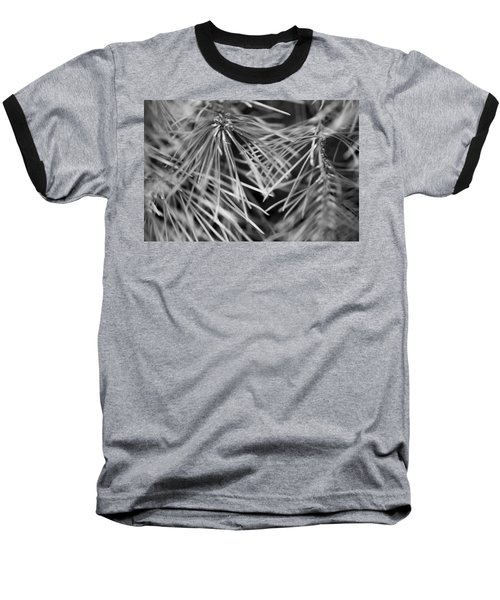 Pine Needle Abstract Baseball T-Shirt by Susan Stone