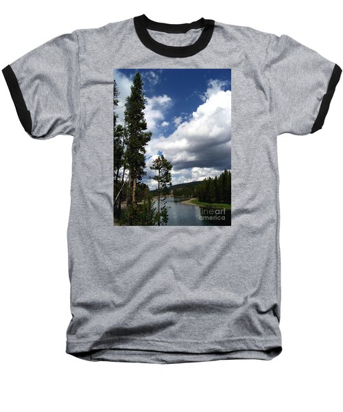 Pine On The Yellowstone River Baseball T-Shirt