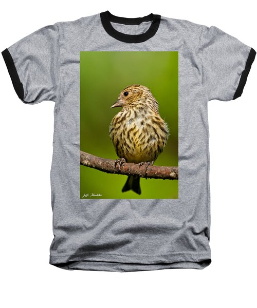 Pine Siskin With Yellow Coloration Baseball T-Shirt