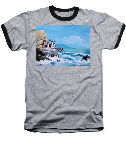 Pinguinos De Humboldt Baseball T-Shirt