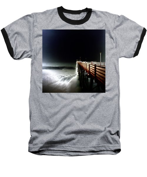 Pinhole Oceanside Pier Baseball T-Shirt by Hugh Smith