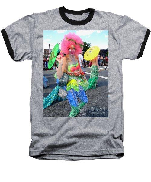 Baseball T-Shirt featuring the photograph Pink Afro by Ed Weidman