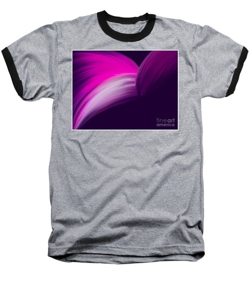 Pink And Purple Curves Baseball T-Shirt