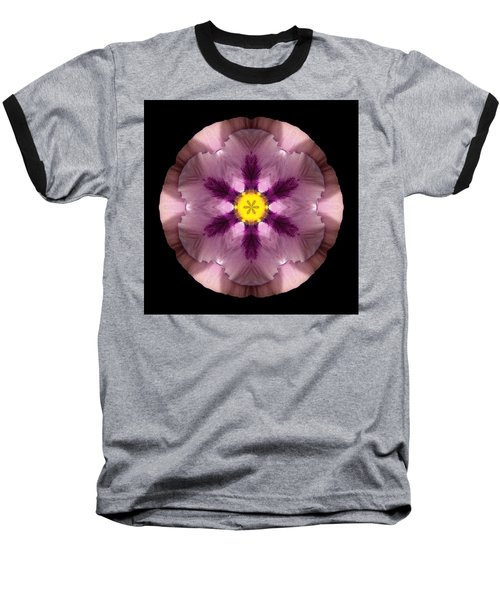 Baseball T-Shirt featuring the photograph Pink And Purple Pansy Flower Mandala by David J Bookbinder