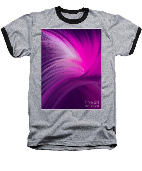 Pink And Purple Swirls Baseball T-Shirt