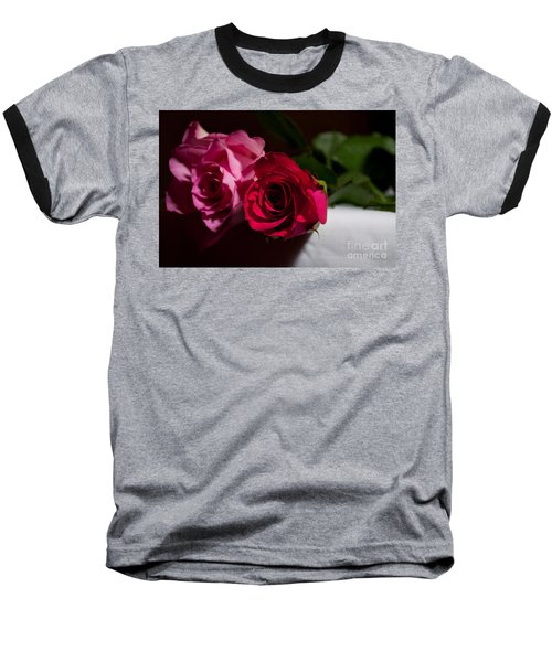 Baseball T-Shirt featuring the photograph Pink And Red Rose by Matt Malloy