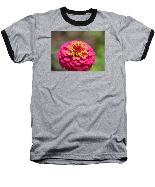 Pink Floral  Baseball T-Shirt by Eunice Miller