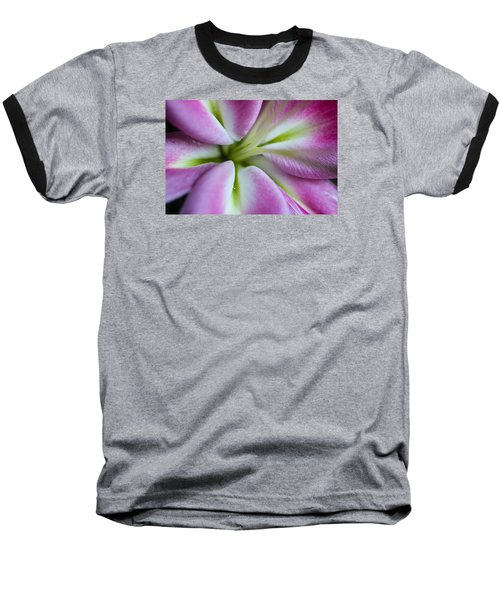 Pink Asiatic Lily Baseball T-Shirt by Julie Andel