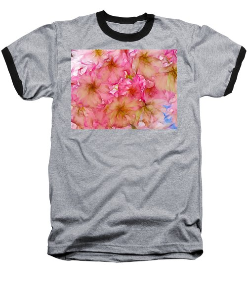 Baseball T-Shirt featuring the digital art Pink Blossom by Lilia D