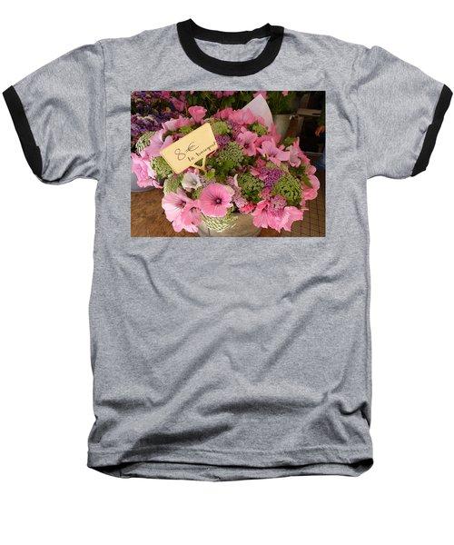 Pink Bouquet Baseball T-Shirt by Carla Parris