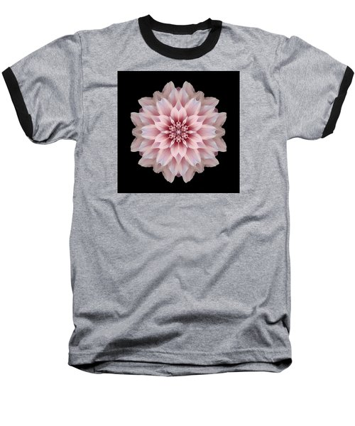 Pink Dahlia Flower Mandala Baseball T-Shirt by David J Bookbinder
