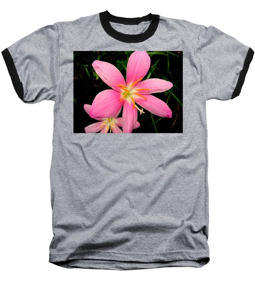 Baseball T-Shirt featuring the photograph Pink Day Lily by Cynthia Amaral