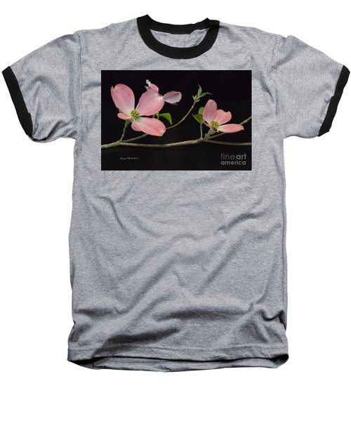 Baseball T-Shirt featuring the photograph Pink Dogwood Branch  by Jeannie Rhode
