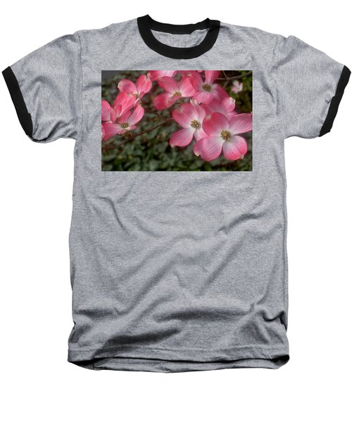Pink Dogwood Delight Baseball T-Shirt