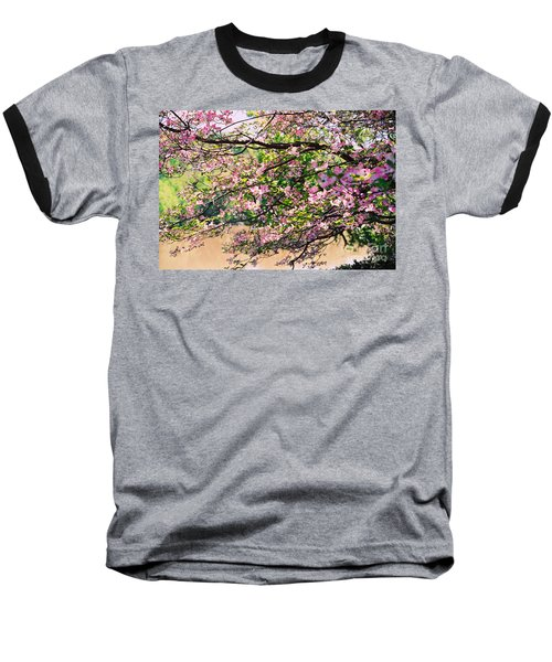 Pink Dogwood I Baseball T-Shirt by Anita Lewis