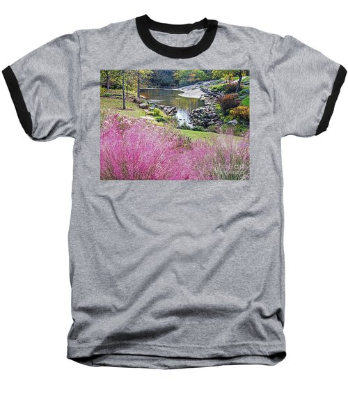 Pink Fall Baseball T-Shirt