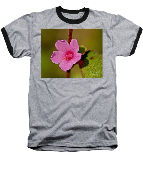 Baseball T-Shirt featuring the photograph Pink Flower by Olga Hamilton