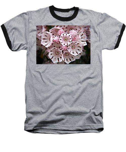 Pink Flowered Mountain Laurel Baseball T-Shirt
