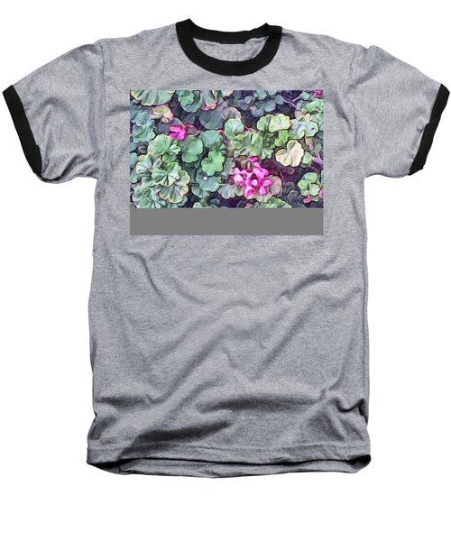 Pink Flowers Painting Baseball T-Shirt