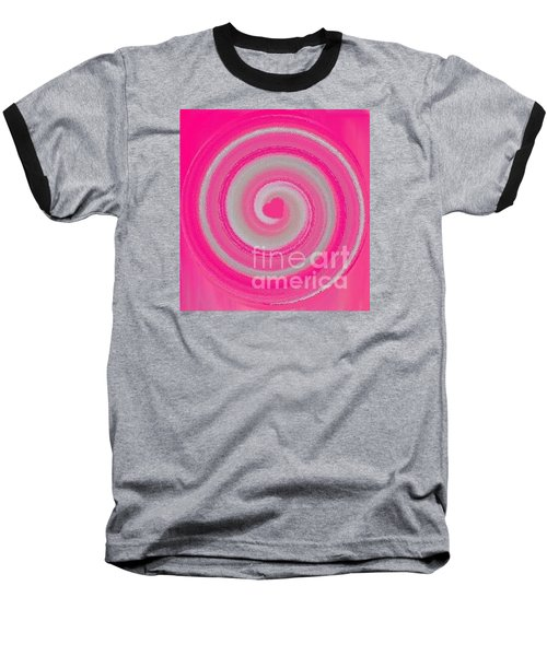 Baseball T-Shirt featuring the digital art Pink Fluff by Catherine Lott