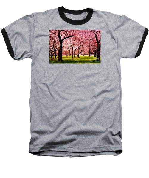 Pink Forest Baseball T-Shirt