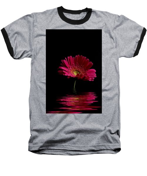 Pink Gerbera Flood 1 Baseball T-Shirt by Steve Purnell