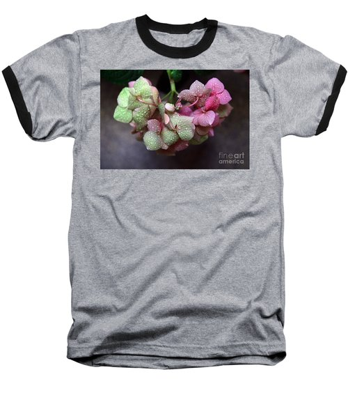 Pink Green And Rain Baseball T-Shirt