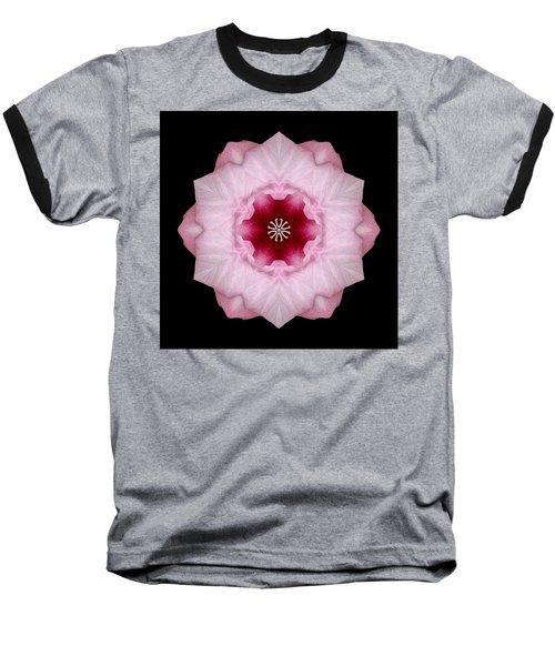 Pink Hibiscus I Flower Mandala Baseball T-Shirt