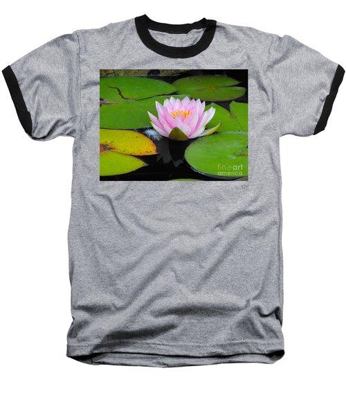 Pink Lilly Flower Baseball T-Shirt