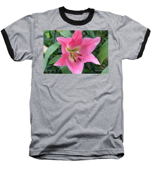 Baseball T-Shirt featuring the photograph Pink Lily by Jeannie Rhode
